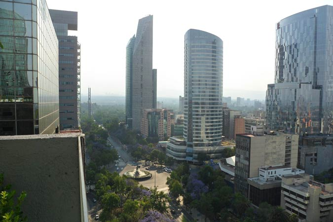 Suites Capri Reforma Angle 380 view towards Chapultepec